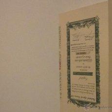 Coleccionismo Acciones Españolas: 100 ACCIONES ENCUADERNADAS DE INDUSTRIAL AGRICOLA CANARIA S. A. 1952. Lote 50521402