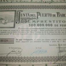 Coleccionismo Acciones Españolas: + JUNTA DEL PUERTO DE BARCELONA. ANTIGUA ACCION AÑO 1948 TZ. Lote 51762214