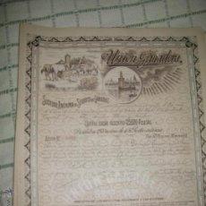 Coleccionismo Acciones Españolas: +UNION GANADERA. SEVILLA. ANTIGUA ACCION. MUY BUEN ESTADO. AÑO 1915 TZ. Lote 51762257