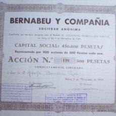 Coleccionismo Acciones Españolas: BERNABEU Y COMPAÑIA, ALCOY, 1939, ACCIÓN Nº 126. Lote 52457169