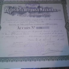 Collezionismo Azioni Spagnole: HIJOS DE ILDEFONSO NAVARRO SA, LINARES. Lote 126705882