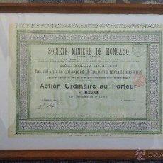 Coleccionismo Acciones Españolas: ACCIÓN SOCIEDAD MINERA DE MONCAYO. Lote 52650622
