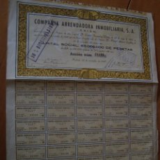 Coleccionismo Acciones Españolas: COMPAÑIA ARRENDADORA INMOBILIARIA 1946 MADRID. Lote 53533377