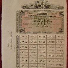 Coleccionismo Acciones Españolas: COMPAÑIA FERROCARRILES DE MALLORCA - OBLIGACION DE 50 PTS - VER FOTO ADICIONAL. Lote 119451967
