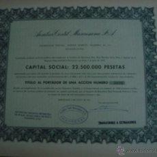 Coleccionismo Acciones Españolas: AUXILIAR TEXTIL MANRESANA 1961 BARCELONA. Lote 54209266