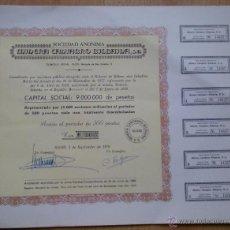 Coleccionismo Acciones Españolas: ACCIÓN 500 PESETAS MINERA CÁNTABRO BILBAINA SA AÑO 1970. Lote 54445620