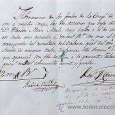 Coleccionismo Acciones Españolas: RARISIMA ACCIÓN DE 2.000 REALES VELLÓN DE LA COMPAÑIA DE COMERCIO DE TOTANA DEL AÑO 1834. MURCIA. Lote 54713960