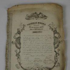 Coleccionismo Acciones Españolas: ACCIÓN SOCIEDAD MINERA LOS BUENOS AMIGOS - MINA LA YNDEPENDIENTE - CONGOSTRINA - 1848.. Lote 49456269