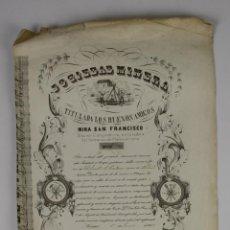 Coleccionismo Acciones Españolas: ACCIÓN SOCIEDAD MINERA LOS BUENOS AMIGOS - MINA SAN FRANCISCO - CONGOSTRINA - 1848.. Lote 49456478