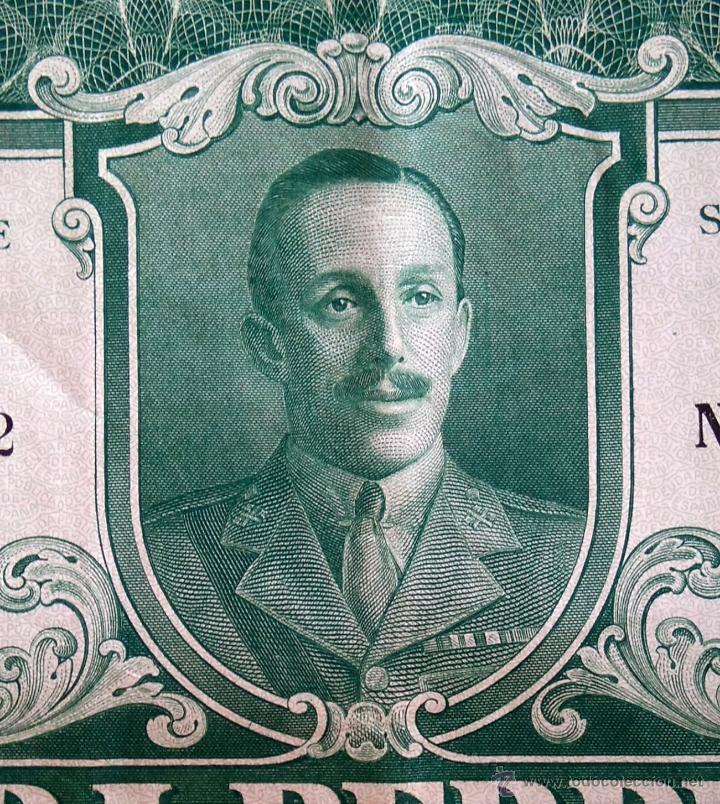 COLECCION 4 ACCIONES,DEUDA ESPAÑA AÑO 1930,REY ALFONSO XIII EN UNIFORME MILITAR,TITULO AL PORTADOR (Coleccionismo - Acciones Españolas)