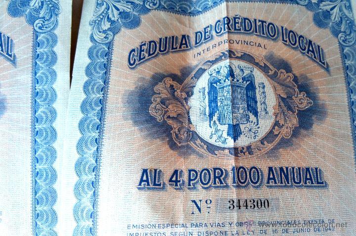 Coleccionismo Acciones Españolas: COLECCION 4 ACCIONES,DEUDA ESPAÑA AÑO 1930,REY ALFONSO XIII EN UNIFORME MILITAR,TITULO AL PORTADOR - Foto 6 - 54996096