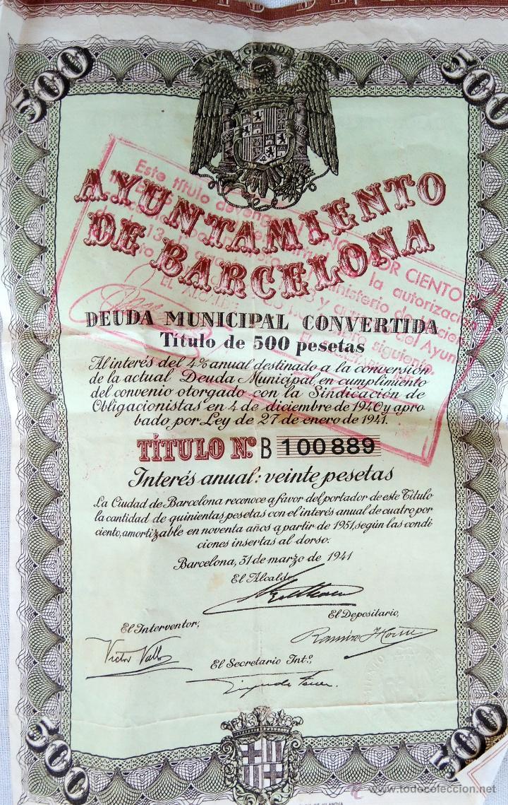 Coleccionismo Acciones Españolas: COLECCION 4 ACCIONES,DEUDA ESPAÑA AÑO 1930,REY ALFONSO XIII EN UNIFORME MILITAR,TITULO AL PORTADOR - Foto 8 - 54996096