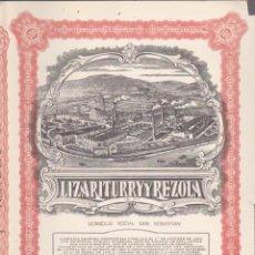 Coleccionismo Acciones Españolas: ACCION EMPRESA LIZATITURRY Y REZONA 1953. Lote 55048934