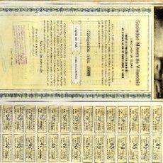 Coleccionismo Acciones Españolas: GALICIA LUGO VILALODRID SOCIEDAD MINERA DE VILLAODRID OBLIG(JZ) BILBAO 1921. Lote 56279391