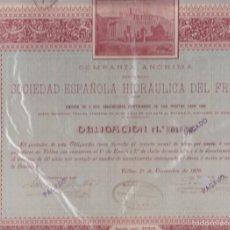 Coleccionismo Acciones Españolas: ACCION CIA DE LOS TRANVIAS ELECTRICOS DE GRANADA ZARAGOZA ENERO 1904 CON CUPONES . Lote 56366281