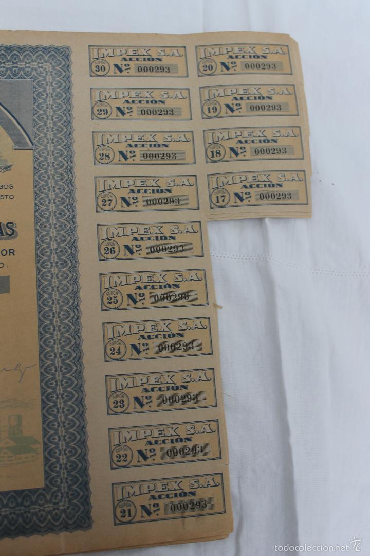 Coleccionismo Acciones Españolas: ACCION IMPEX S.A. MADRID 1939 - Foto 3 - 56928827