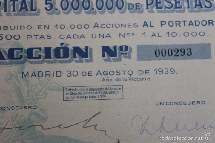 Coleccionismo Acciones Españolas: ACCION IMPEX S.A. MADRID 1939 - Foto 4 - 56928827