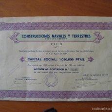 Coleccionismo Acciones Españolas: CONSTRUCCIONES NAVALES Y TERRESTRES - VICH 1939. Lote 57037573