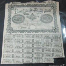 Coleccionismo Acciones Españolas: ACCION. INMOBILIARIA ALCALA S.A. MADRID 1946. CON CUPONES. Lote 57380779