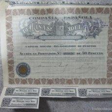 Coleccionismo Acciones Españolas: ACCION. COMPAÑIA ESPAÑOLA DE MINAS DEL RIF. S.A. AÑO 1928. Lote 57484687