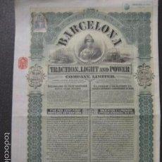 Coleccionismo Acciones Españolas: BARCELONA TRACTION LIGHT AND POWER - DICIEMBRE 1911 - VER FOTOS -(ACCION-26). Lote 57576026