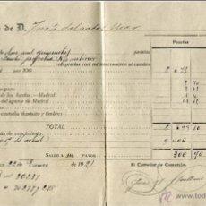 Coleccionismo Acciones Españolas: DOCUMENTO DE COMPRA DE DEUDA PERPETUA, 1921. Lote 47417390