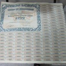 Coleccionismo Acciones Españolas: ACCION. MINAS DE HERRERIAS. SEVILLA. CON CUPONES. 1952. Lote 57726951