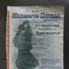 Coleccionismo Acciones Españolas: MUY INTERESANTE ACCIÓN LA HISPANO SUIZA BARCELONA JULIO 1906 DIBUJO RAMON CASAS. Lote 58419730
