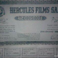 Coleccionismo Acciones Españolas: + HERCULES FILMS. ANTIGUA ACCION DEL AÑO 1941. Lote 60282571