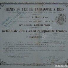 Coleccionismo Acciones Españolas: FERROCARRIL DE TARRAGONA A REUS (1855). Lote 61604910