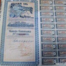Coleccionismo Acciones Españolas: ACCION MINAS DE TEVERCA SOCIEDAD ANONIMA - BILBAO 25 AGOSTO 1904. Lote 62273344