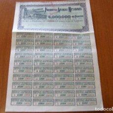 Coleccionismo Acciones Españolas: ACCION SOCIEDAD ANONIMA PLOMOS DE AZUAGA Y MESTANZA - BILBAO 28 JUNIO 1901. Lote 62274556
