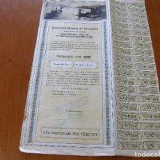 Coleccionismo Acciones Españolas: ACCION SOCIEDAD MINERA DE VILLAODRID - BILBAO 10 NOVIEMBRE 1921. Lote 62279036