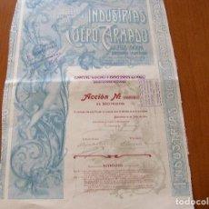 Coleccionismo Acciones Españolas: ACCION INDUSTRIAS DEL CUERO ARMADO S. A. - BARCELONA 30 JULIO 1904. Lote 62359020