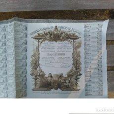 Coleccionismo Acciones Españolas: COMPAÑIA GENERAL DE TABACOS DE FILIPINAS 1882. ACCIÓN. ENVIO GRATIS.. Lote 62390228