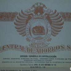 Coleccionismo Acciones Españolas: LOTE TÍTULOS DE AHORRO 1974.. Lote 62733603