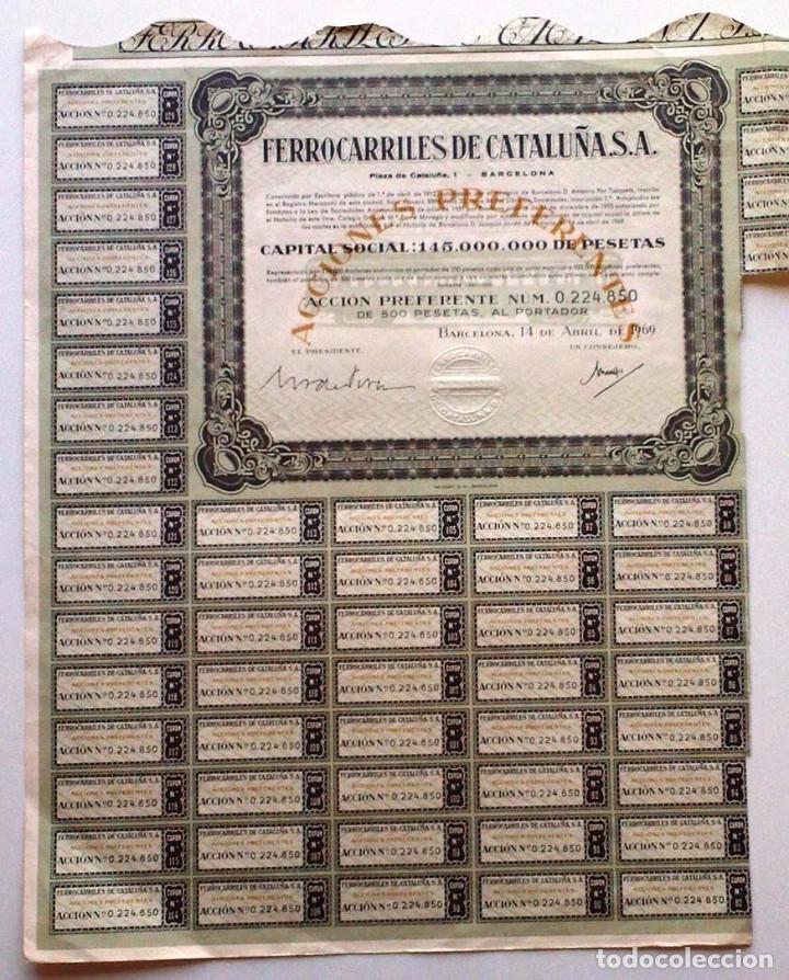 FERROCARRILES DE CATALUÑA S. A. (Coleccionismo - Acciones Españolas)