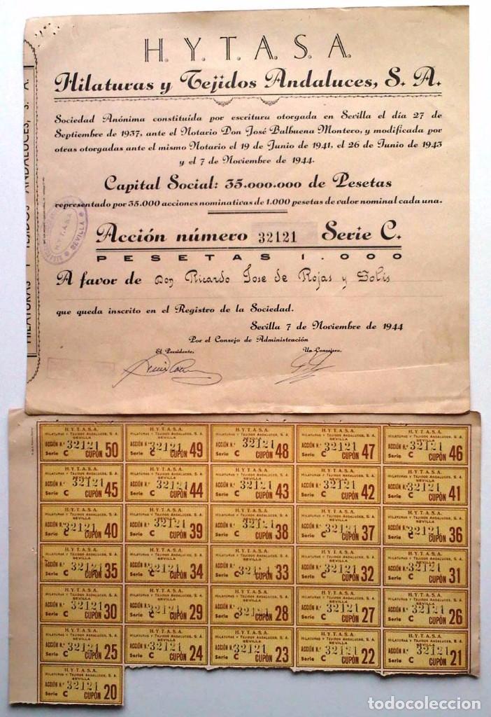 H. Y. T. A. S. A. (Coleccionismo - Acciones Españolas)
