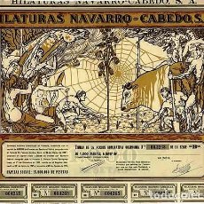 Coleccionismo Acciones Españolas: HILATURAS NAVARRO - CABEDO, S. A.. Lote 64314575