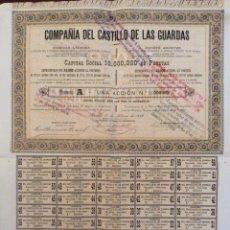 Coleccionismo Acciones Españolas: ACCCION COMPAÑÍA DEL CASTILLO DE LAS GUARDAS. Lote 64538901
