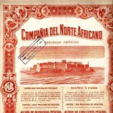 Coleccionismo Acciones Españolas: COMPAÑÍA DEL NORTE AFRICANO MELILLA. Lote 72918979