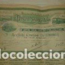 Coleccionismo Acciones Españolas: TRANVIA DE MONDARIZ A VIGO ACCION 500 PESETAS. SERIE B. AÑO 1919. Lote 74956983