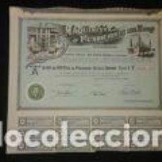 Coleccionismo Acciones Españolas: ACCIÓN DE LA ZARAGOZANA MAQUINISTA Y FUNDICIONES DEL EBRO DEL AÑO 1. 956 LA EMPRESA FUE FUNDADA EN 1. Lote 76051603