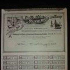 Coleccionismo Acciones Españolas: ACCIÓN DE LA ZARAGOZANA MAQUINISTA Y FUNDICIONES DEL EBRO DEL AÑO 1. 971 LA EMPRESA FUE FUNDADA EN 1. Lote 76051655