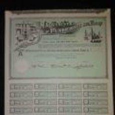 Coleccionismo Acciones Españolas: ACCIÓN DE LA ZARAGOZANA MAQUINISTA Y FUNDICIONES DEL EBRO DEL AÑO 1. 972 LA EMPRESA FUE FUNDADA EN 1. Lote 76051739