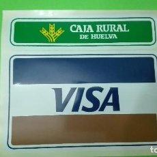 Coleccionismo Acciones Españolas - LOTE - 2 PEGATINAS ANTIGUAS: CAJA RURAL DE HUELVA Y VISA. - 78084833