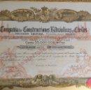 Coleccionismo Acciones Españolas: ACCION. COMPAÑIA DE CONSTRUCCIONES HIDRAULICAS Y CIVILES. AÑO 1934.. Lote 78266729
