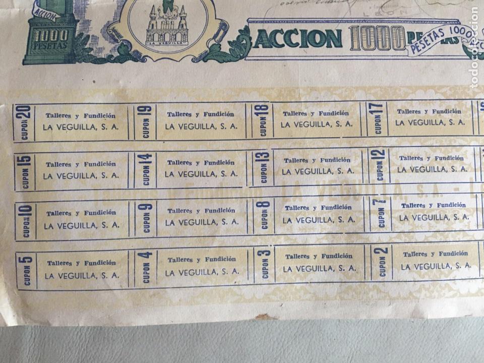 Coleccionismo Acciones Españolas: TALLERES DE FUNDICIÓN LA VEGUILLA S.A LEÓN 1957 - Foto 3 - 78799023
