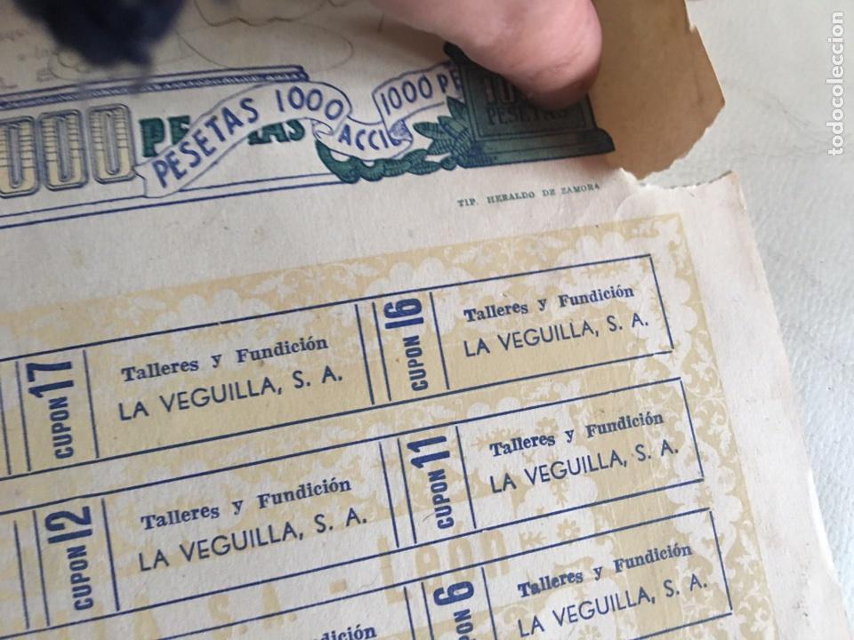 Coleccionismo Acciones Españolas: TALLERES DE FUNDICIÓN LA VEGUILLA S.A LEÓN 1957 - Foto 4 - 78799023