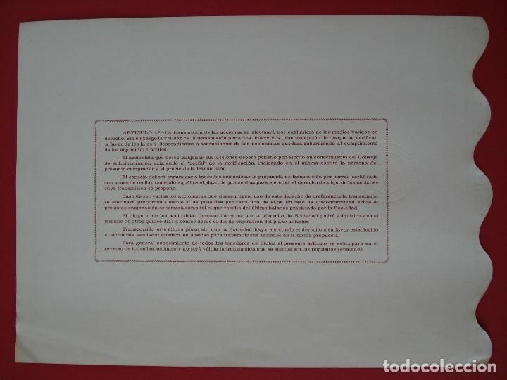 Coleccionismo Acciones Españolas: ACCION AUXILIAR INDUSTRIAL, S.A - 500 PTS.- AMOREBIETA -1971 - 23X31 CM. -NUMERADA 27126.. R-5091 - Foto 2 - 79101001
